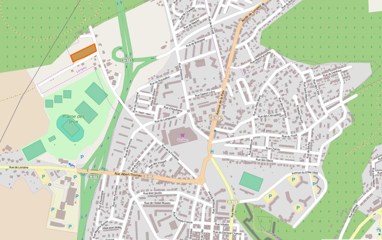 Plan terrain rue de la frontière