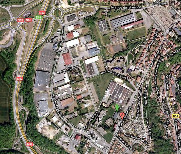 40 rue de Boismont à Longwy elle est située dans la salle de sports de l'école primaire Pulventeux. GPS = N 49.513256259996325, E 5.756245851516724